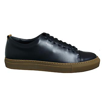 Hackett London Charlton 7 Navy Leather Lace Up Mens Cupsole Shoes HMS20817 595