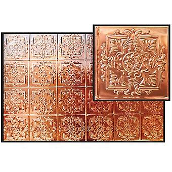 Dolls House Real Copper Ceiling Miniature 1:12 Scale 9.3/4  X  6.3/4 Inches