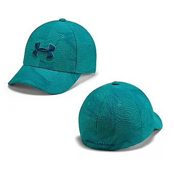 Under Armour Kids Boys Printed Blitzing 3.0 Cap Fitted Logo Hat Teal 1305459 454