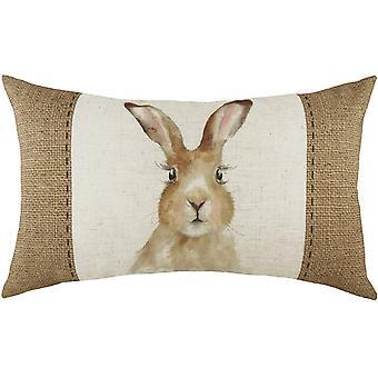 Evans Lichfield Hessian Hare Cushion Cover