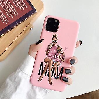 iPhone 12 Pro Max peler maman fille rose mignon mignon