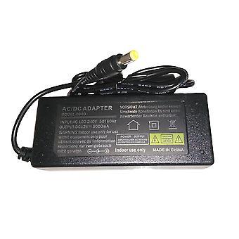 12V5000mA AC 100V-240V omformer adapter DC 12V 5A 5000mA strømforsyning EU Plug 5.5mm x 2.1mm for LED