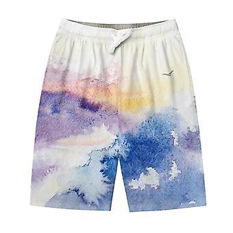 Pantaloncini da paesaggio acquerello da uomo YANGFAN