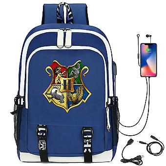 Harry Potter Rucksack USB-Lade-Studenten-Rucksack