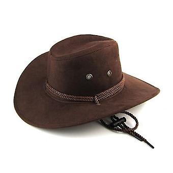 Men & Women Large Brim Cowboy Hat For Outdoor