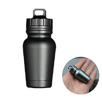 ACHIOOWA aluminiumlegering EDC Survival Pill Capsule afdichting opslag tank outdoor waterdichte doos