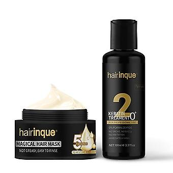 Keratin Treatment Magical Hair Mask Set, Make Smooth & Shiny Care