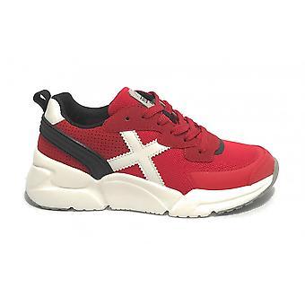 Scarpe Bambino Munich Sneaker Mini Track Ecopelle/ Tessuto Rosso Zs21mu04 8895016