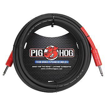 "Pig hog phsc25 high performance 14 gauge 9.2mm 1/4"" speaker cable, 25 feet"