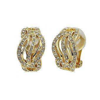 Traveller Clip earrings Gold plated Swarovski Crystals - 157393