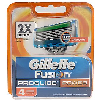 Gillette Fusion Proglide Cargador 4 recambios