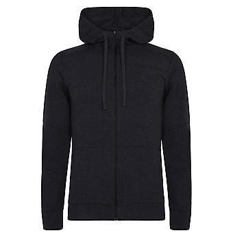 Asics Herre Skræddersyet Fuld Zip Hoodie Drawcord Langærmet Activewear Hoody Top