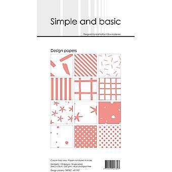 Simple and Basic Fresh Peach Slim Paper Pack