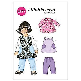 McCalls Sewing Pattern 6631 Baby Infant Pants Jumper Jacket Size S-L