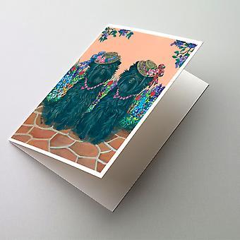 Affenpinscher Sisters Onnittelukortit ja kirjekuoret Pakkaus 8