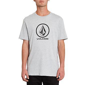 Volcom Men's Camiseta ~ Gris piedra crujiente