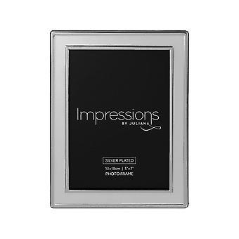 Impressions By Juliana Silverplated Satin Plain 5 X 7 Photo Frame