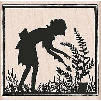 Hero Arts Let's Garden Silhouette - Wood Mounted Stamps