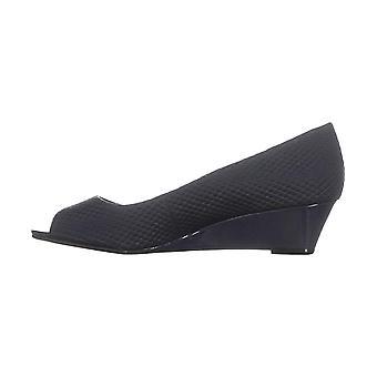 Alfani Womens Cami2 Tissu Peep Toe Wedge Pompes