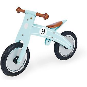 FengChun 239478 Laufrad Nico, Laufrad Holz, unplattbare Bereifung, umbaubar vom Chopper zum Laufrad,