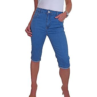 icecoolfashion Women's High Waisted 3/4 Cropped Jeans