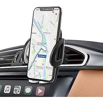Držiak na telefón air ventilácie s [2 vetracími svorkami] 360 ° rotácia Univerzálny držiak telefónu do auta (sivý)