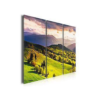Tableau moderne, Tableau photo paysage vosgiens quand la montagne se reveille, 90x60cm