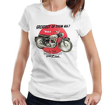 BSA 1960 Royal Tourist Golden Flash Women's T-Shirt