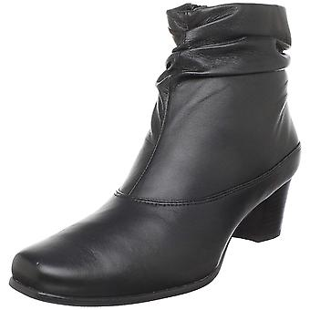 David Tate Womens Vera Leather Square Toe Ankle Fashion Boots