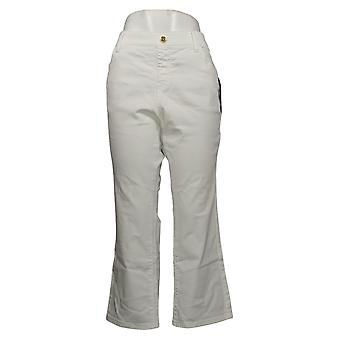 IMAN Global Chic Mujeres's Jeans Petite Ilusión Denim Blanco 734928100
