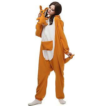 Regenboghorn Kenguru Puku Pyjama Onesie Kigurumi Jumpsuit Eläin Huppari