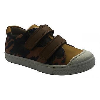 PETASIL Clayton Podwójny rzep buty w musztarda camo skóra