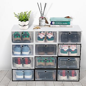 Shoes Organizer Box Cabinet Can Be Superimposed Combination Dustproof 6pcs/3pcs/1pc