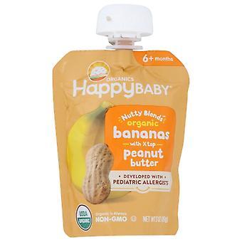 Glücklich Baby Essen Baby Bnana Pnut Bttr, Fall von 16 X 3 Oz