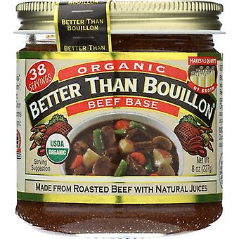 Bättre än Bouillon Base Beef Org, Fall av 6 X 8 Oz