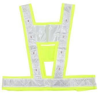 Haute visibilité Veste de sécurité industrielle réfléchissante Hi Vis Vest avec bandes réfléchissantes et lumières LED (jaune)