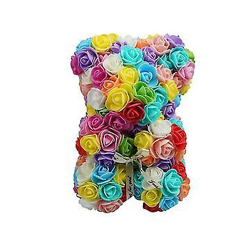"""מתנת יום האהבה 25 ס""""מ ורד דוב יום הולדת מתנה £ ¬ יום הזיכרון דובי מתנה (צבעוני 1 #)"""