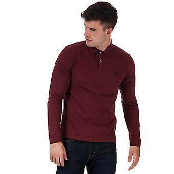 menns timberland langermet polo skjorte i rødt