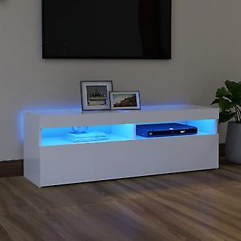 vidaXL TV-kaappi LED-valoilla Valkoinen 120x35x40 cm
