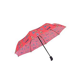 Biggdesign Cats Mini Umbrella, Coupe-vent, Tissu Pongee imperméable, 21 pouces, Automatique sur, hors Parapluie de voyage compact