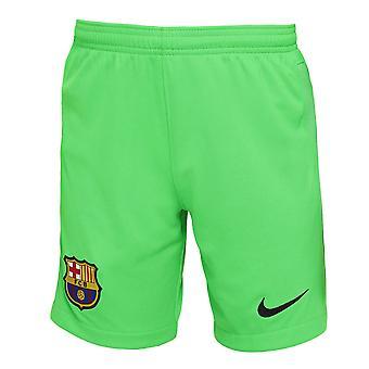 2021-2022 Barcelona Home Goalkeeper Shorts (Green)