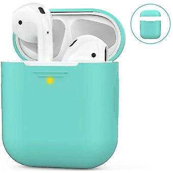 Airpods Silicone Case Compatible With Apple Airpods 2 & 1(Mint Green)