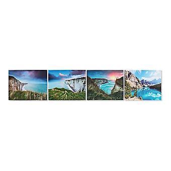Painting DKD Home Decor Landscape 50 x 1.8 x 40 cm (4 pcs)