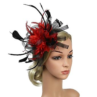 Bowknot Derby Day Feather Mesh Party Hat Bridal Wedding Fedoras Cocktail Banquet Fascinator Headband