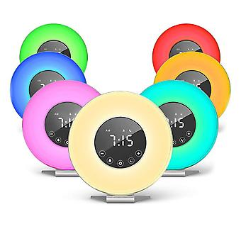 Alarm Clock - Digital Led Clock With 6 Color Switch And Fm Radio