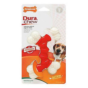 Nylabone Dura Chew Double Bone - Bacon Flavor - Wolf - Hundar upp till 35 lbs
