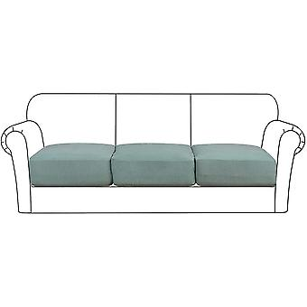 High stretch seat cushion cover sofa cushion furniture protector with elastic bottom for 1/2/3 seater, sage