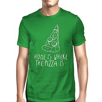المنزل حيث بيتزا مان الأخضر كيلي المحملة القميص الرسم لطيف