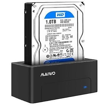 HDD/SSD docking station, USB 3.1 Gen 2, USB-C, 10 Gbps, black