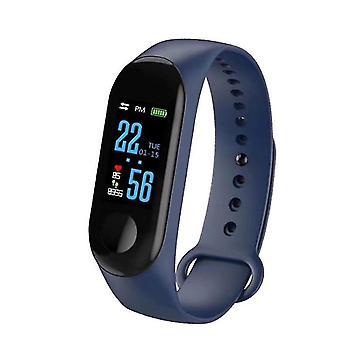 Smart armbånd Vandtæt Sport Armbånd Smart Watch til IOS Android (Blå)
